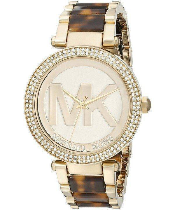 Michael Kors Parker Champagne Dial MK6109 Womens Watch