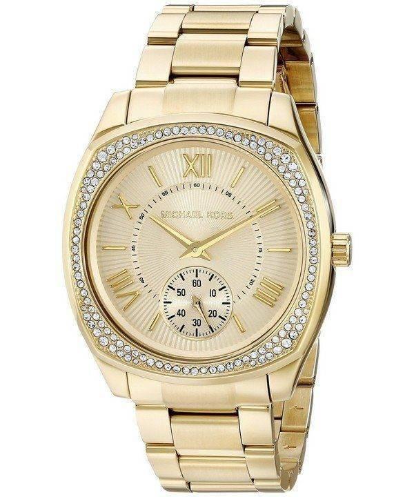 Michael Kors Bryn Gold Dial MK6134 Womens Watch