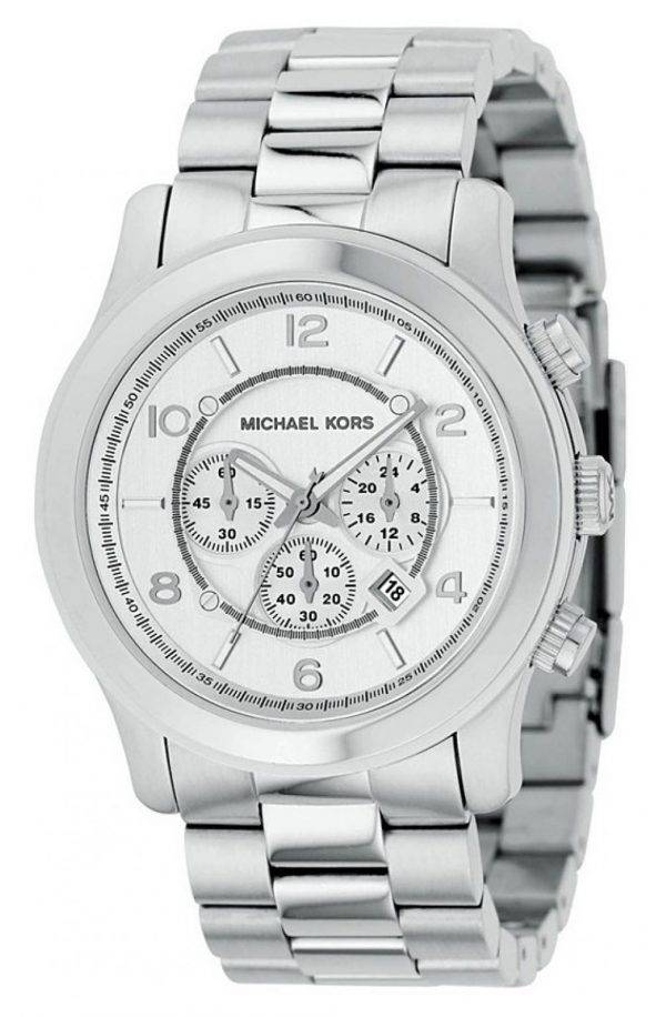 Michael Kors argent piste MK8086 montre homme