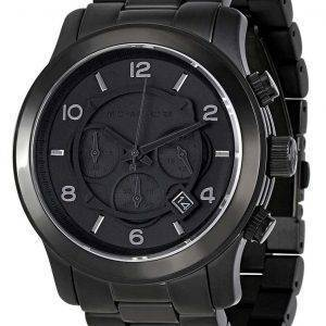 Michael Kors Blacked Out Runway Chronograph MK8157 Mens Watch