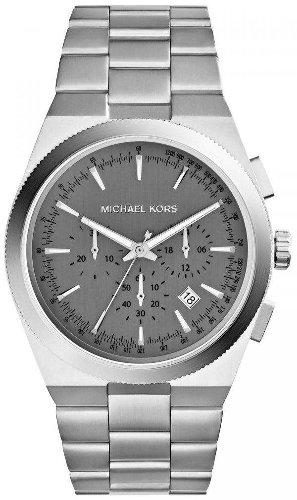 Michael Kors Channing Chronograph Grey Dial MK8337 Mens Watch