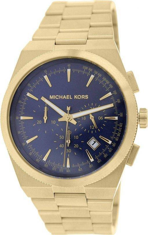 Michael Kors Brooks Chronograph Blue Dial MK8338 Mens Watch