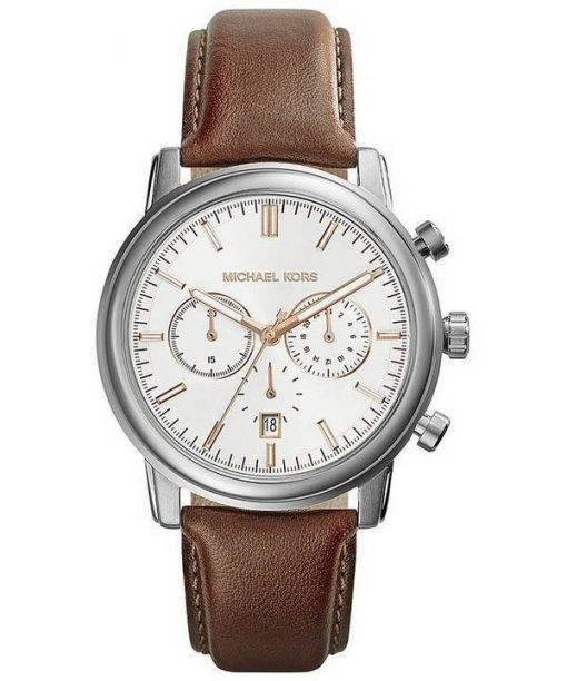Michael Kors Landaulet Chronograph White Dial MK8372 Mens Watch