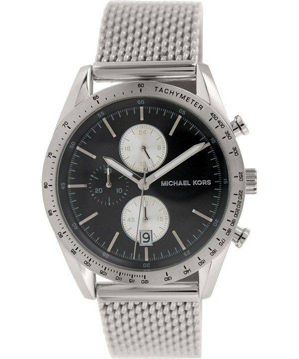 Michael Kors Accelerator Chronograph Black Dial MK8387 Mens Watch