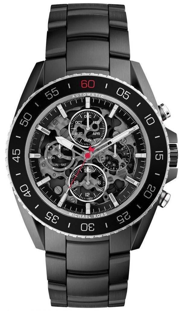 Michael Kors Jet-Master Automatic Skeleton Dial MK9012 Mens Watch