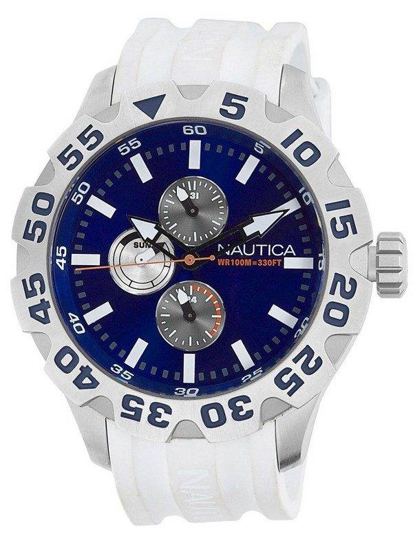 Nautica BFD 100 Multifunction N15567G Blue Dial Mens Watch
