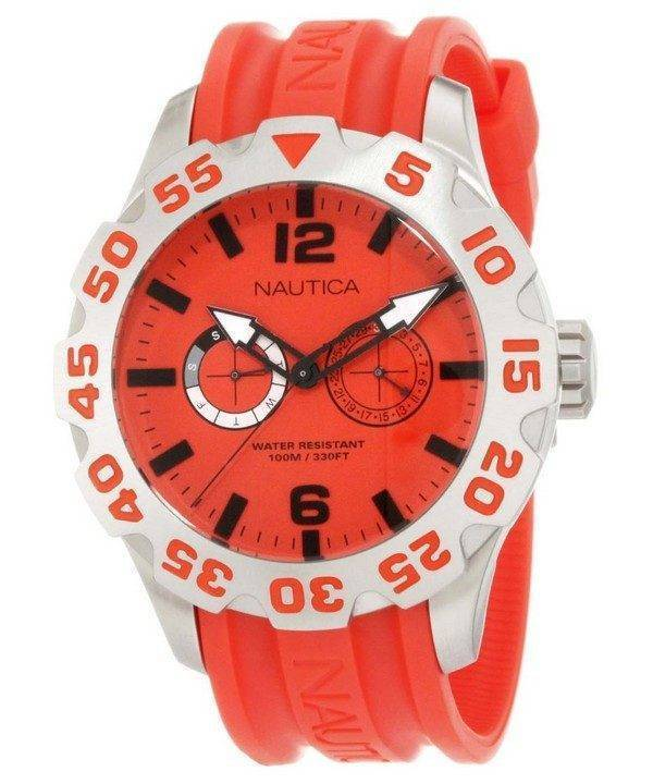Nautica BFD 100 cadran rouge N16602G montre homme