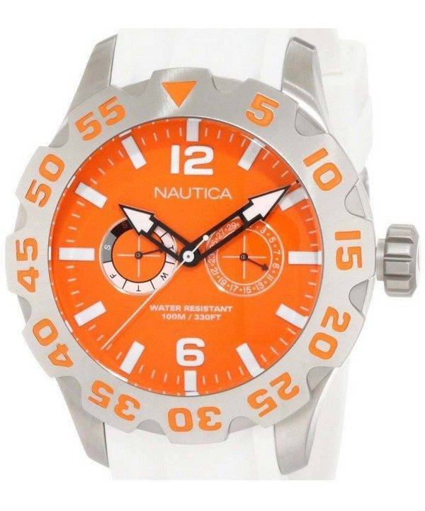Nautica BFD 100 Orange cadran N16618G montre homme