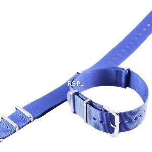 Bracelet Nato bleu marine 20mm pour SKX007 SKX009, SKX011, SRP497, SRP641