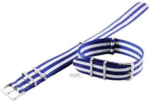 Seiko 22 mm bleu & blanc bracelet acier pour SKX007 SKX009, SKX011, SRP497, SRP641