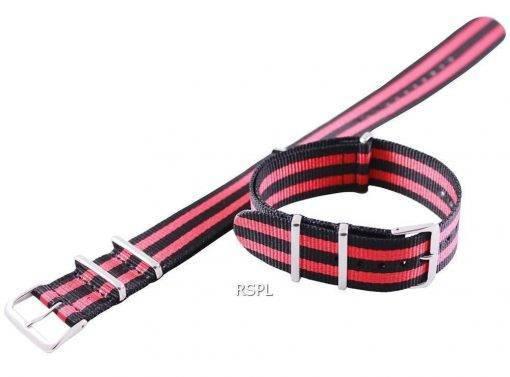 Seiko 22 mm rouge & noir Bracelet acier pour SKX007 SKX009, SKX011, SRP497, SRP641