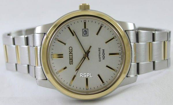 Seiko Quartz Sapphire Silver Dial SGEH06P1 SGEH06P Mens Watch