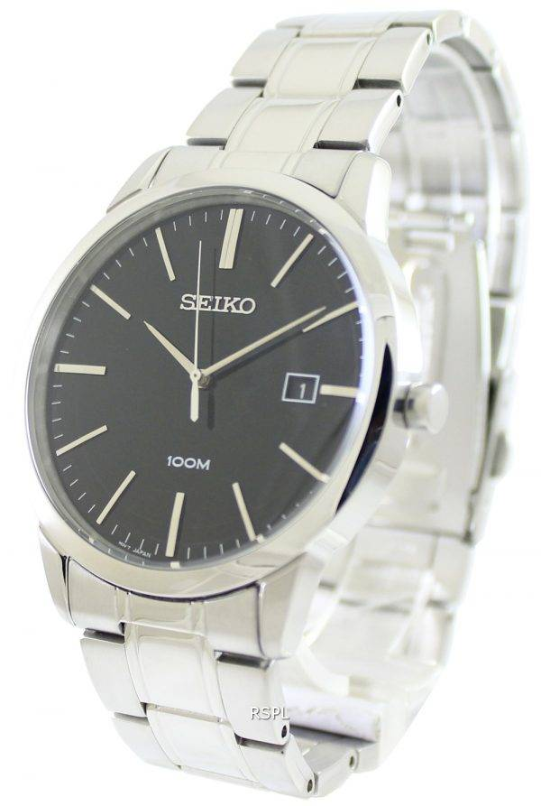 Seiko Quartz Black Dial SGEH09P1 SGEH09P Mens Watch