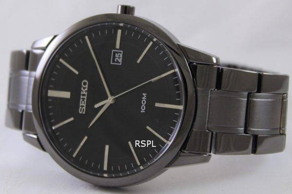 Seiko Quartz Black IP SGEH11P1 SGEH11P Mens Watch