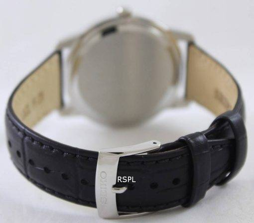 Seiko Quartz Sapphire Black Dial SGEH19P1 SGEH19P Mens Watch