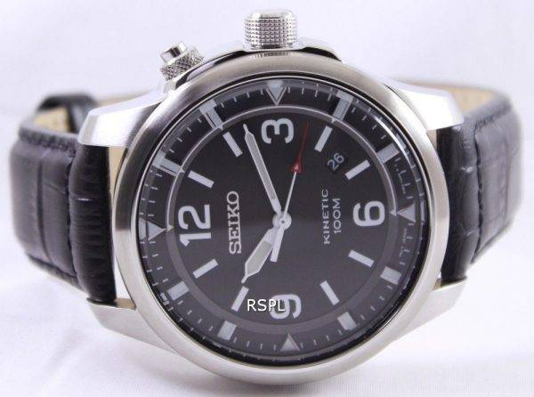 Seiko Neo Sports Kinetic 100M Black Dial SKA689P1 SKA689P Mens Watch