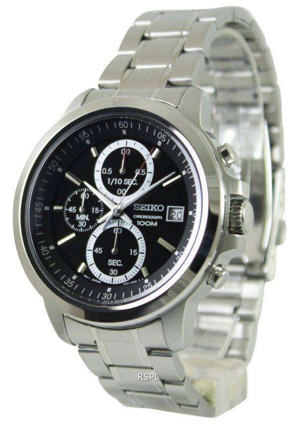 Seiko Chronograph Quartz Black Dial SKS445P1 SKS445P SKS445 Mens Watch