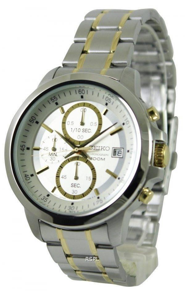 Seiko chronographe Quartz deux ton SKS447P1 SKS447P SKS447