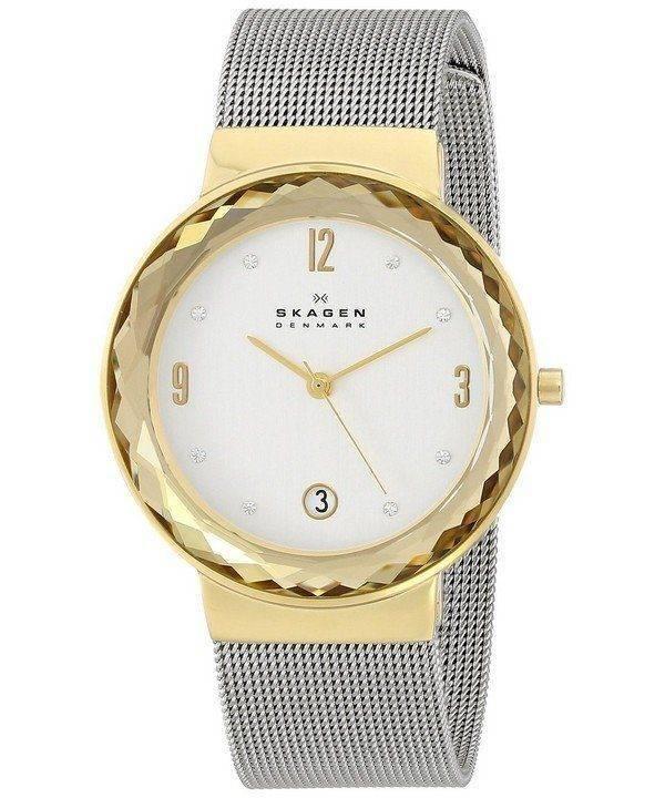 Skagen Leonora Silver Dial Swarovski Crystal Mesh Bracelet SKW2002 Womens Watch