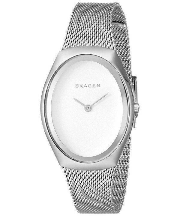 Skagen Madsen Matte Silver Dial Stainless Steel Mesh Bracelet SKW2297 Womens Watch