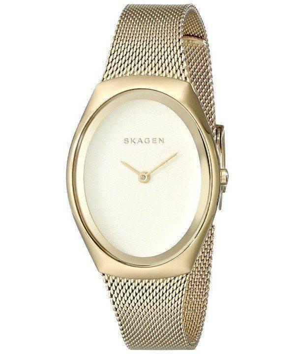 Skagen Madsen Matte Gold Dial Gold-Tone Mesh Bracelet SKW2298 Womens Watch