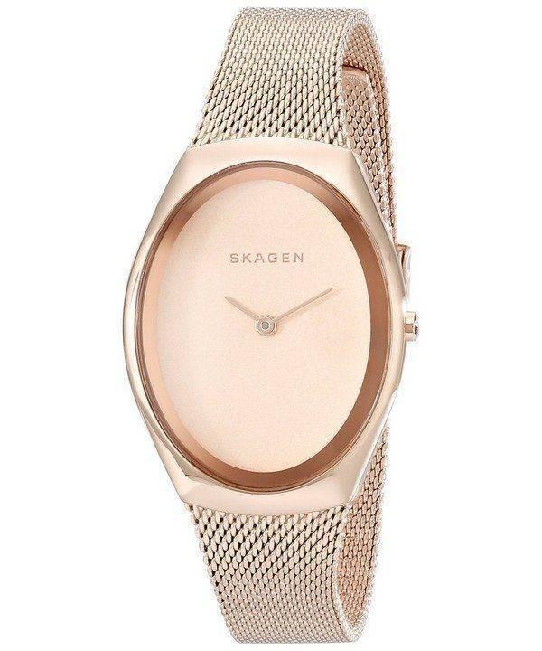 Skagen Madsen Rose Matte Dial Rose Gold-Tone Mesh Bracelet SKW2299 Womens Watch