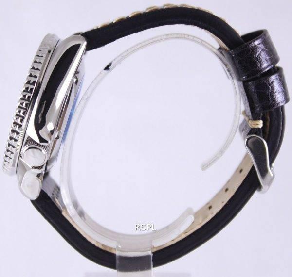 Seiko Automatic Diver's Black Leather SKX007J1-LS2 200M Mens Watch
