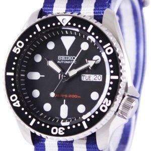 Montre 200M NATO bracelet SKX007K1-NATO2 masculin automatique Seiko Diver