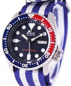 Montre 200M NATO bracelet SKX009K1-NATO2 masculin automatique Seiko Diver