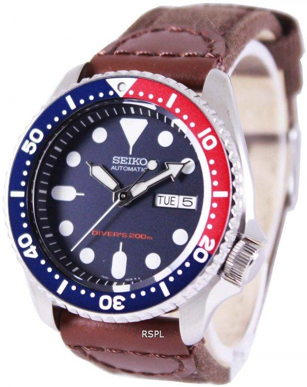 Watch en Nylon sangle SKX009K1-NS1 200M hommes Seiko automatique montre de plongée