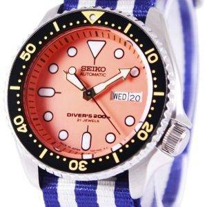 Montre 200M NATO bracelet SKX011J1-NATO2 masculin automatique Seiko Diver