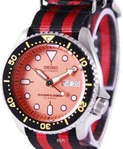 Montre 200M NATO bracelet SKX011J1-NATO3 masculin automatique Seiko Diver