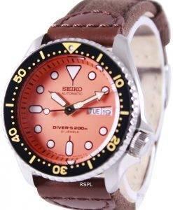 Montre en Nylon sangle SKX011J1-NS1 200M masculin Seiko automatique montre de plongée