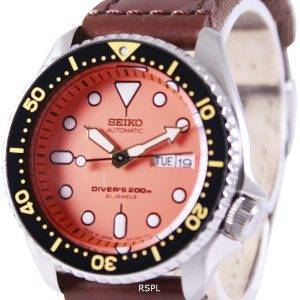 Montre en Nylon sangle SKX011J1-NS1 200M masculin Seiko automatique montre de plongée