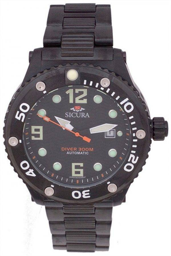 Sicura Automatic Divers 300M Crystal SM606GB Mens Watch