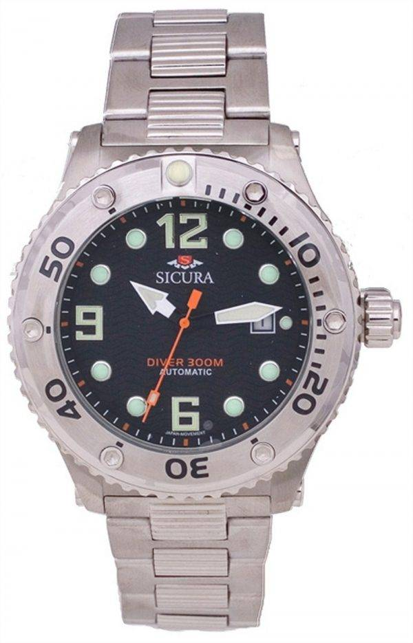 Sicura Automatic Divers 300M Crystal SM606MB Mens Watch