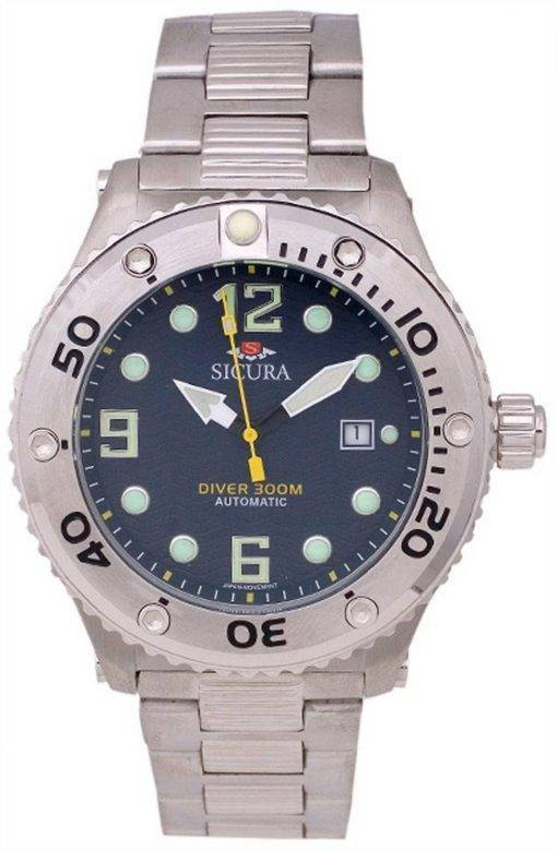 Sicura Automatic Divers 300M Crystal SM606MN Mens Watch