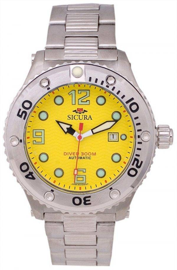 Sicura Automatic Divers 300M Crystal SM606MY Mens Watch