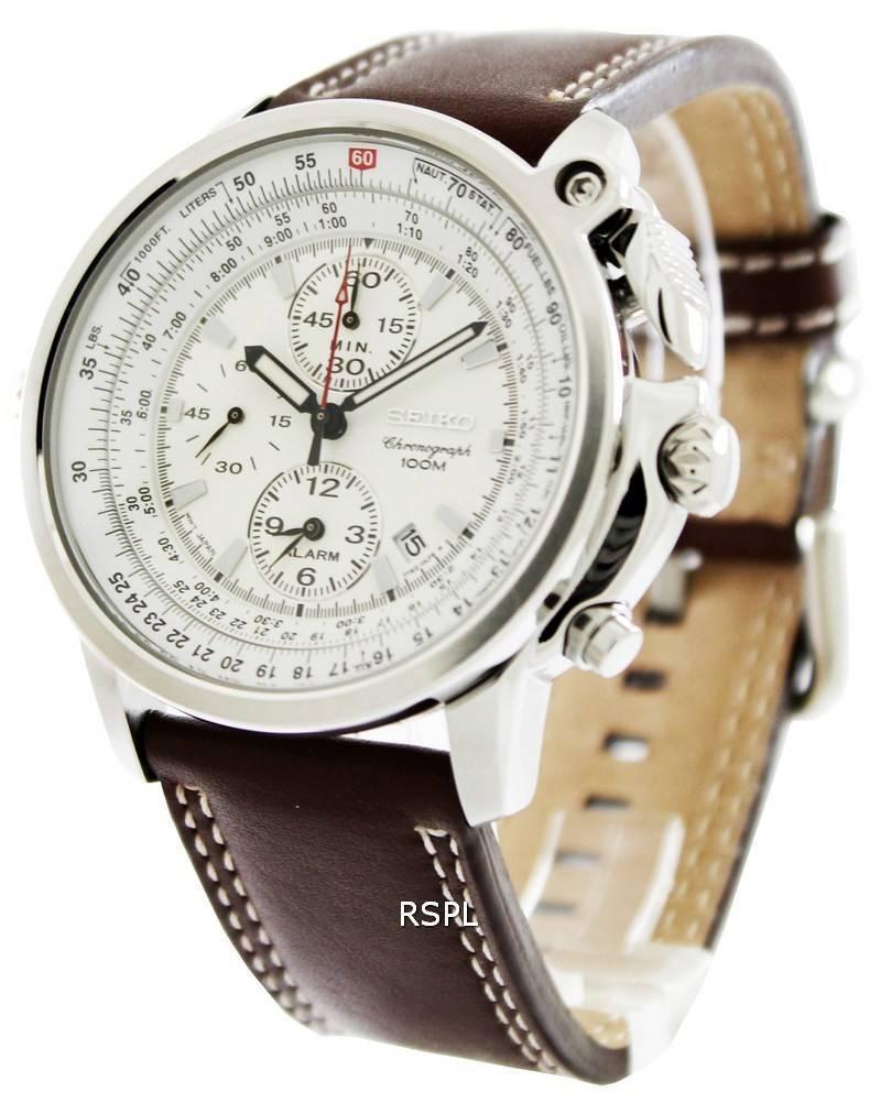 3fa25b2223da75 Seiko FLIGHTMASTER Pilot Chronograph SNAB71P1 SNAB71P SNAB71 Mens Watch