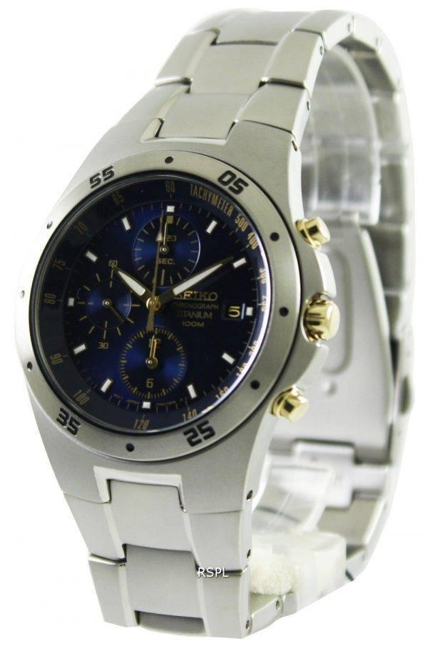 Seiko titane chronographe bicolore SND449P1 SND449P SND449