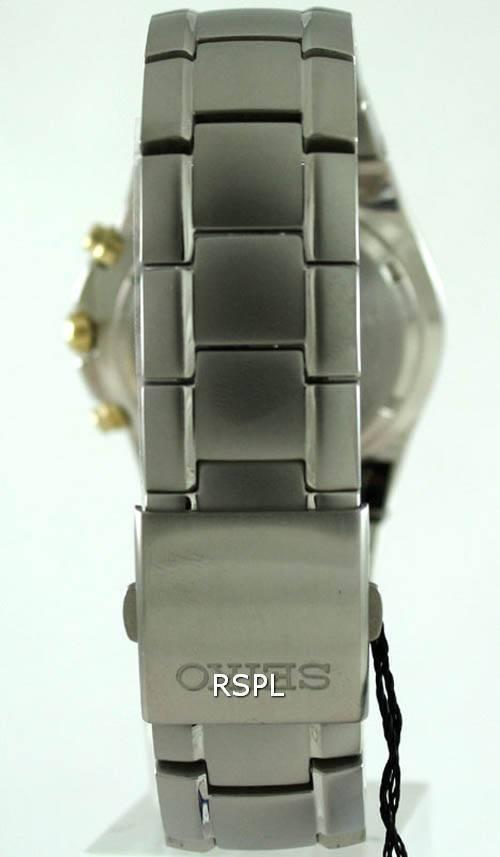 Seiko titane chronographe bicolore SND451P1 SND451P SND451
