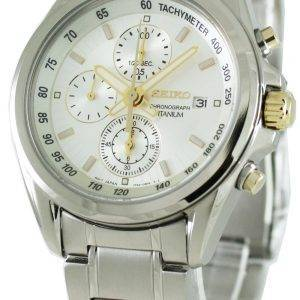Seiko titane chronographe SNDC95P1 SNDC95 SNDC95P Mens Watch