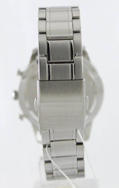 Seiko Chronograph Red Bezel SNDF37P1 SNDF37P Mens Watch