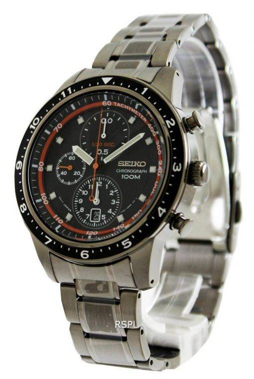 Seiko Chronograph 100M Black Bezel SNDF41P1 SNDF41P Mens Watch
