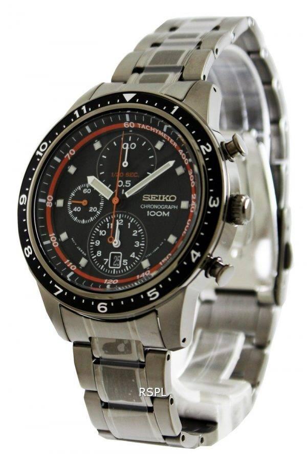 Seiko Chronograph 100M Black Bezel SNDF41P1 SNDF41P Mens Watch