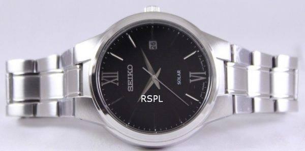 Seiko Solar Black Dial SNE387P1 SNE387P Mens Watch