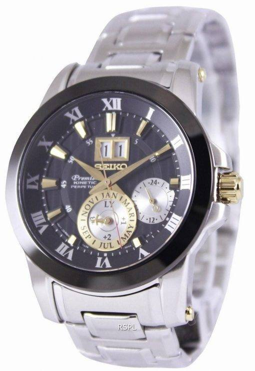 Seiko Premier Kinetic Perpetual SNP129P1 SNP129P Mens Watch