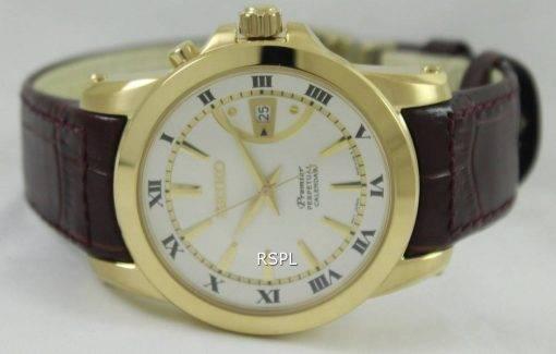 Seiko Premier Perpetual Calendar SNQ144P1 SNQ144P Mens Watch