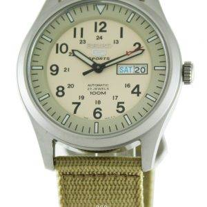 Seiko 5 Sports automatique SNZG07K1 SNZG07 SNZG07K militaire Nylon sangle Mens Watch