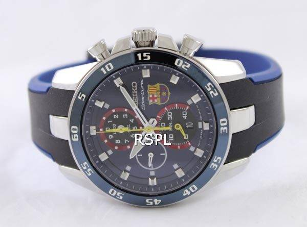 Seiko Sportura FC Barcelona Chronograph SPC089P2 Mens Watch
